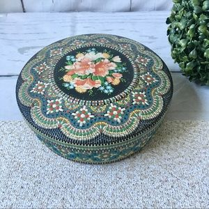 Vintage Made In Holland Floral Tin